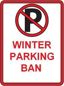 Winter Parking Ban Sign
